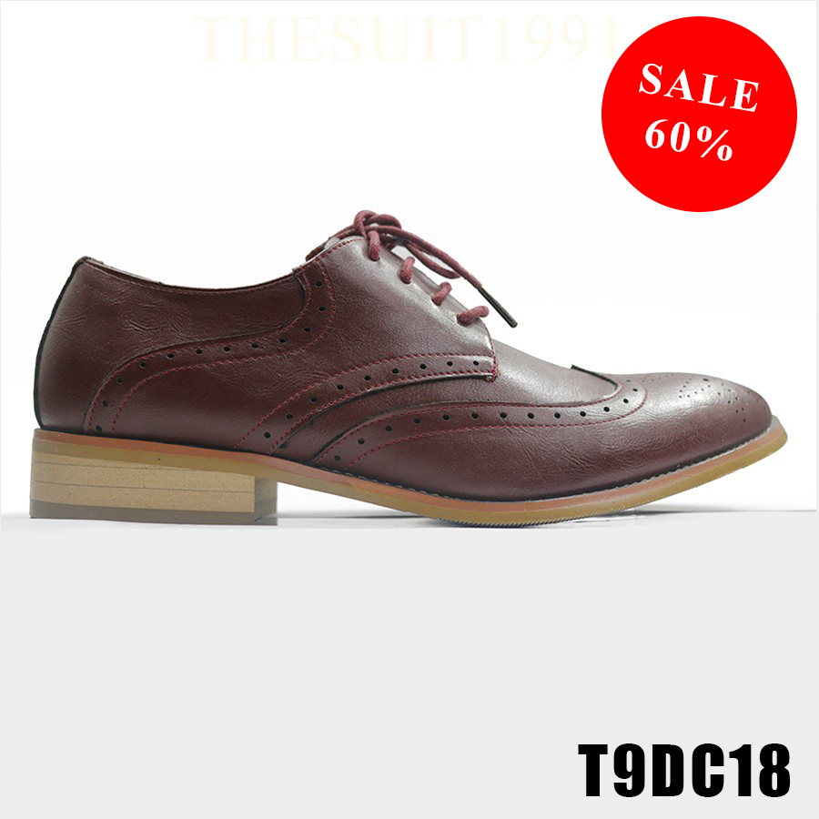 Red Full Brogues Premium Shoes T9DC18 #0